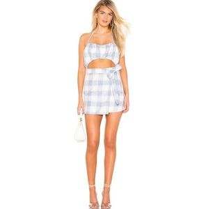 NWT Lovers + Friends Irena Mini Dress in Check